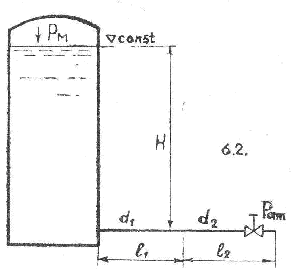 диаметры труб d1 = 75 мм,